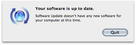 Your software is up to date.