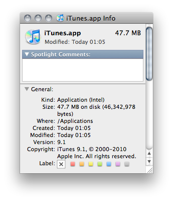 iTunes - cleared architecture